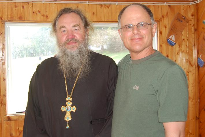Father Vladimir Malchenko and Robert Burke, Immersion Camp 2008, Canada