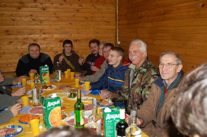 A Russian traditional feast with Mikhail Ryabko and Dave Merrell, Moscow 2007
