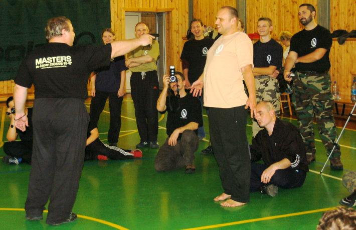 Mikhail training with gun.  Moscow 2007