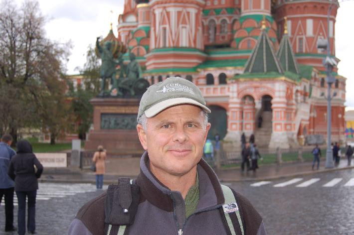 Robert Burke at Red Square, Moscow 2007